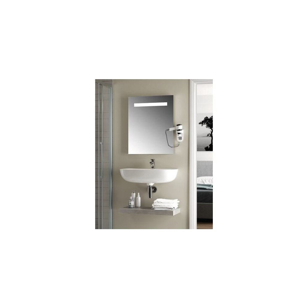 Oglinda cu iluminare si dezaburire Ideal Standard Mirror&Light 50x70 cm imagine neakaisa.ro