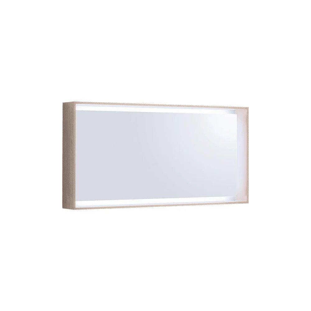Oglinda cu iluminare LED Geberit Citterio bej 119 cm imagine neakaisa.ro