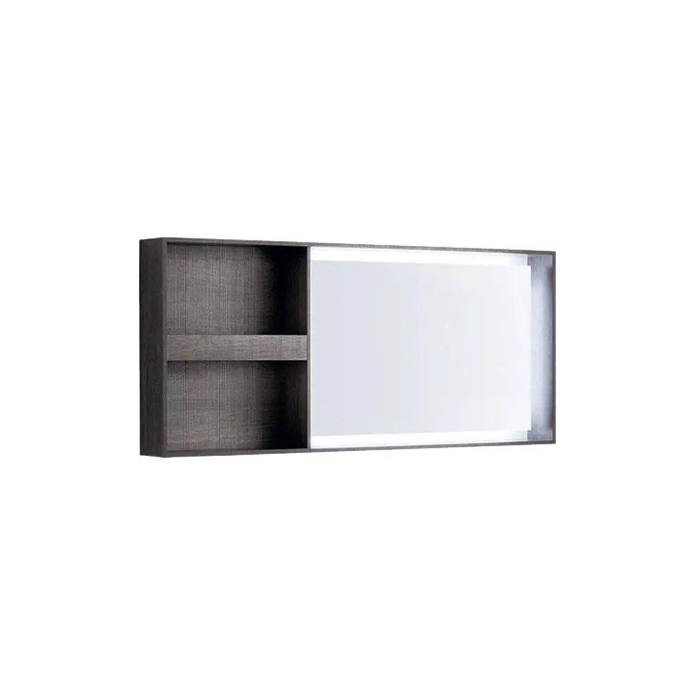 Oglinda cu iluminare LED Geberit Citterio maro/gri 134 cm imagine neakaisa.ro