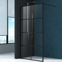 Paravan de dus Mediterraneo Black 8 100x200 cm sticla securizata