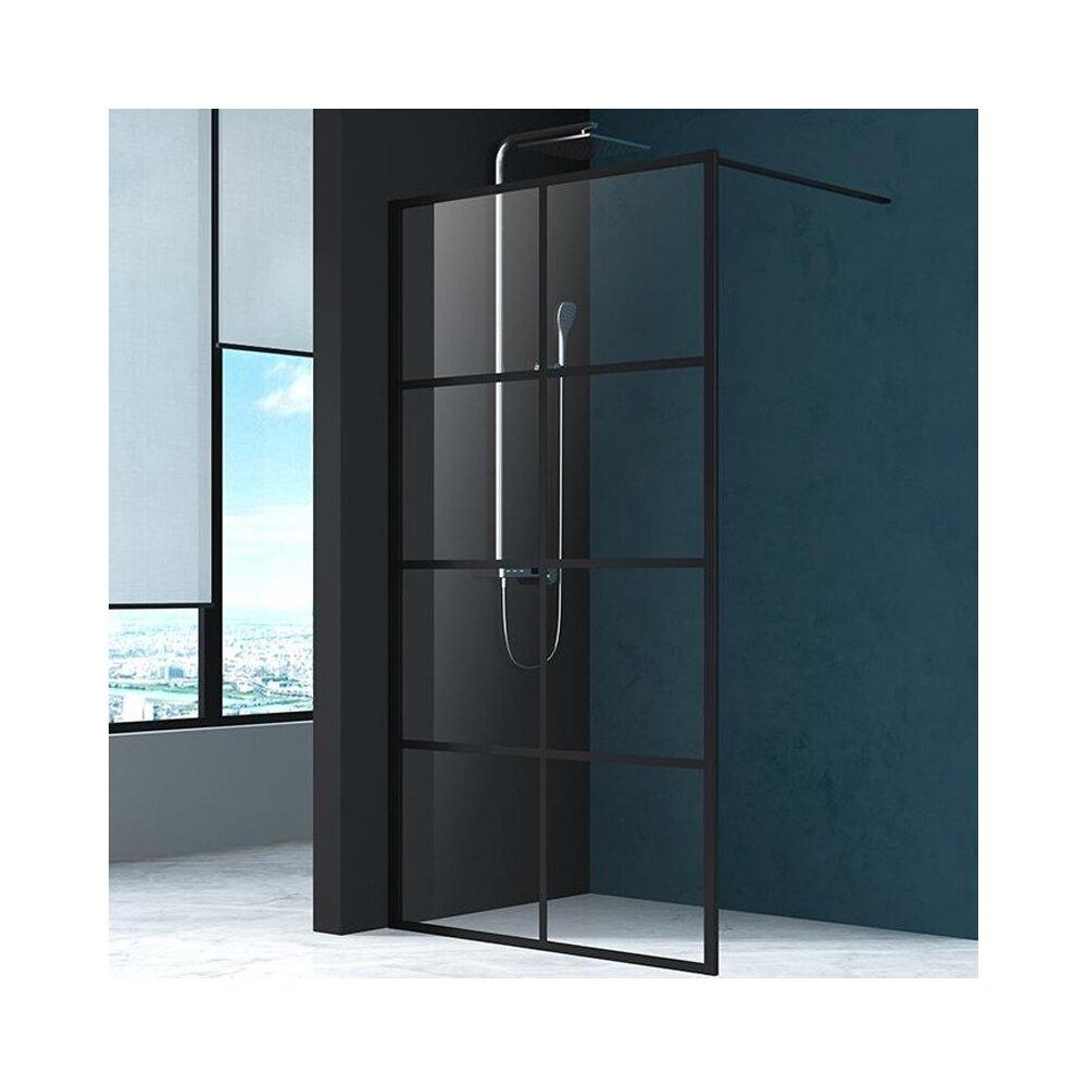 Paravan de dus Mediterraneo Black 8 100x200 cm sticla securizata imagine