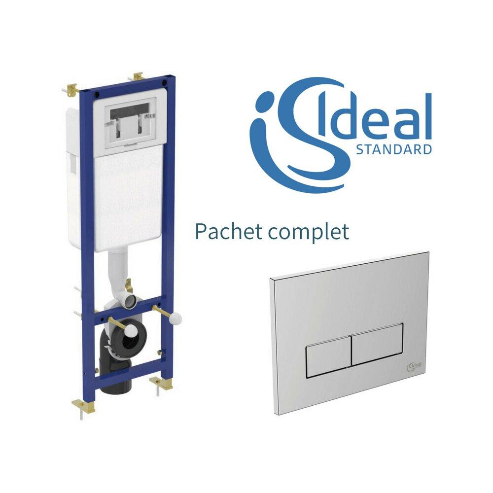 Rezervor Ideal Standard cu cadru ingropat si clapeta crom cu dubla comanda pentru wc suspendat imagine