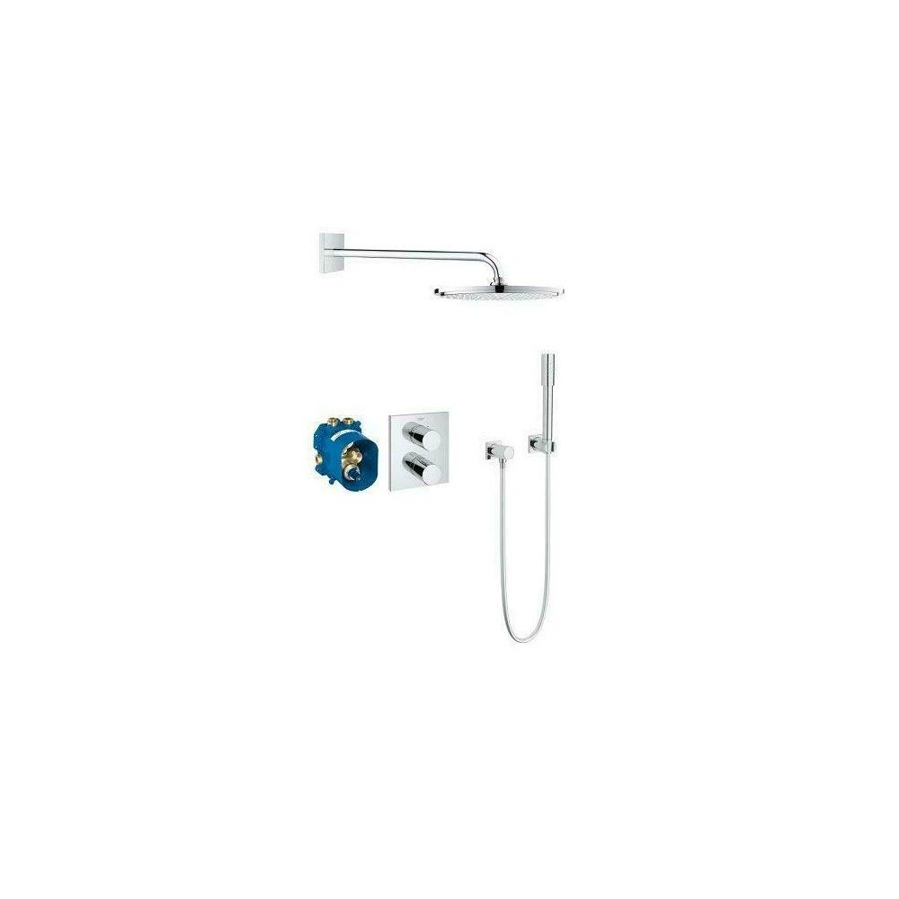 Sistem de dus cu termostat Grohe Grohtherm 3000 Cosmopolitan incastrat imagine neakaisa.ro