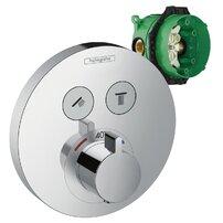 Set promo baterie dus termostatica Hansgrohe ShowerSelect S + IBox corp incastrat
