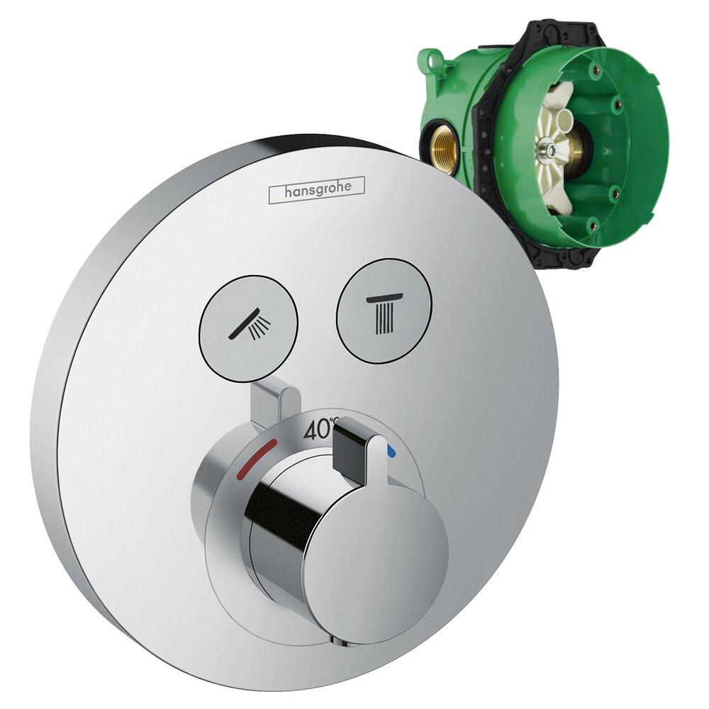 Set promo baterie dus termostatica Hansgrohe ShowerSelect S + IBox corp incastrat imagine neakaisa.ro