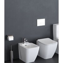 Set vas wc pe pardoseala bideu pe pardoseala si capac slim soft close Ideal Standard Strada II AquaBlade BackToWall