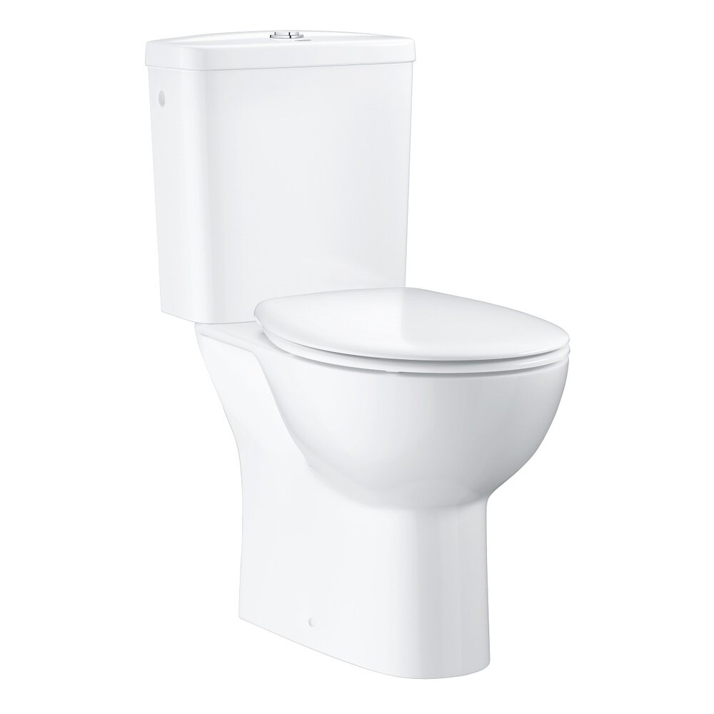 Set vas wc pe pardoseala Grohe Bau Ceramic Rimless cu rezervor asezat si capac softclose imagine