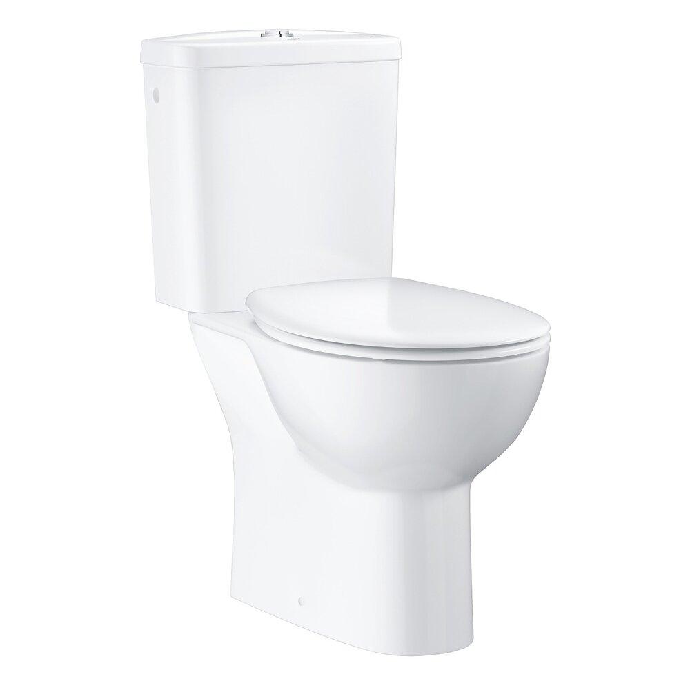 Set vas wc pe pardoseala Grohe Bau Ceramic Rimless cu rezervor asezat si capac softclose poza