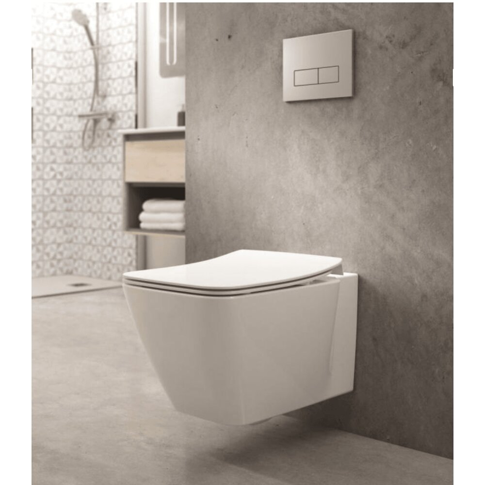 Set vas wc suspendat cu capac slim soft close Ideal Standard Strada II AquaBlade imagine neakaisa.ro