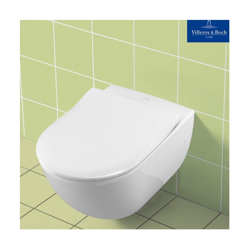 Set vas wc suspendat cu capac slim soft close Villeroy&Boch Subway neakaisa.ro