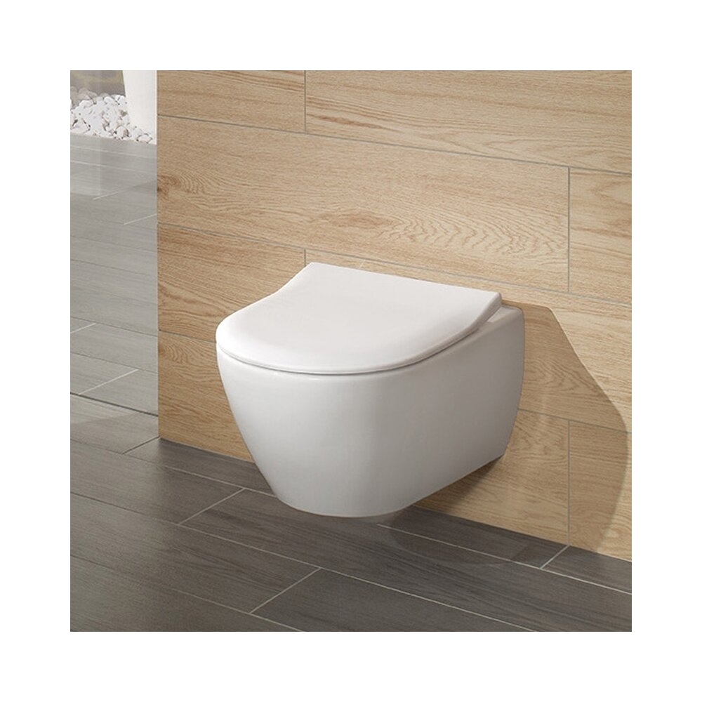 Set vas wc suspendat Villeroy&Boch Subway 2.0 DirectFlush cu capac slim soft close poza