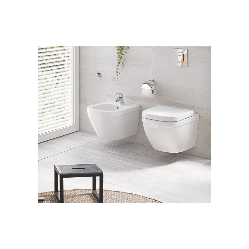Set vas wc suspendat cu capac softclose si bideu Grohe Euro Ceramic Rimless Triple Vortex imagine