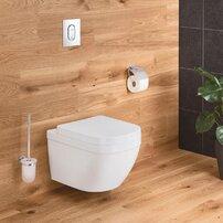 Set vas wc suspendat Grohe Euro Ceramic Compact Rimless Triple Vortex si capac softclose