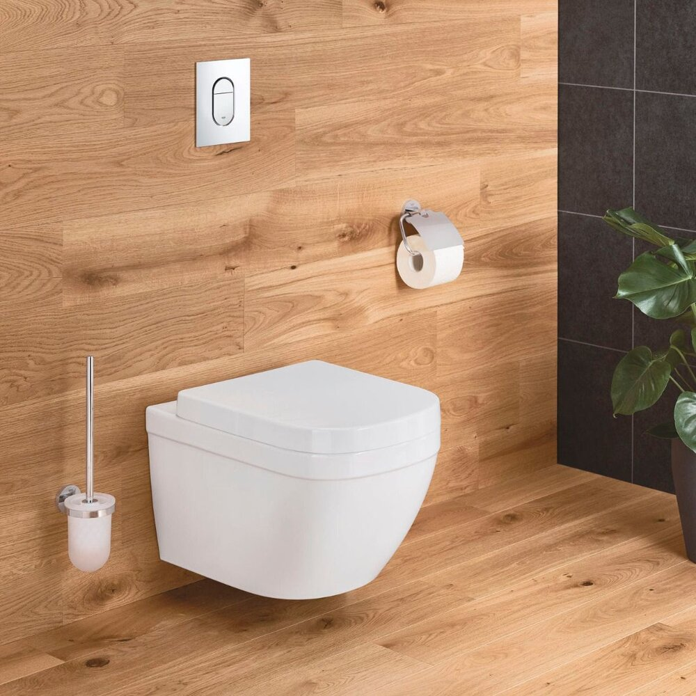 Set vas wc suspendat Grohe Euro Ceramic Compact Rimless Triple Vortex si capac softclose imagine