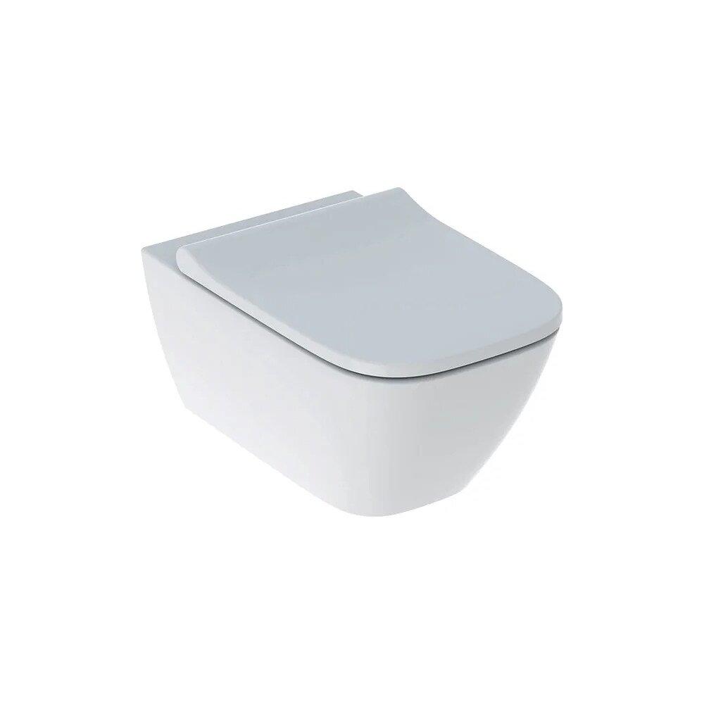 Set vas wc suspendat si capac slim soft close Geberit Smyle Square