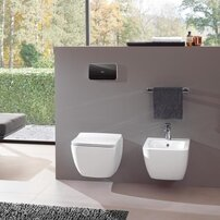 Set vas wc suspendat Villeroy&Boch Legato Direct Flush cu bideu si capac slim soft close