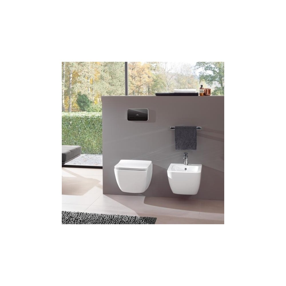Set vas wc suspendat Villeroy&Boch Legato Direct Flush cu bideu si capac slim soft close imagine neakaisa.ro