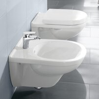 Set vas wc suspendat Villeroy&Boch O.Novo Direct Flush cu bideu suspendat si capac soft close