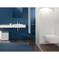 Set vas wc suspendat XXL Villeroy&Boch Vivia Direct Flush cu capac soft close