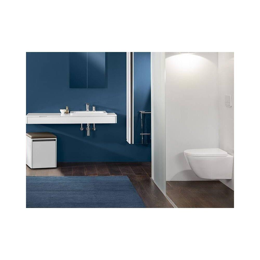 Set Vas wc suspendat XXL Villeroy&Boch Vivia Direct Flush cu capac soft close imagine