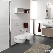 Set vas wc suspendat Villeroy&Boch Omnia Architectura cu bideu suspendat si capac soft close