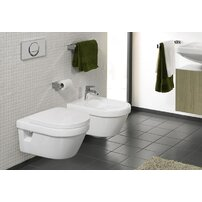 Set vas wc suspendat Villeroy&Boch Omnia Architectura DirectFlush cu bideu suspendat si capac soft close