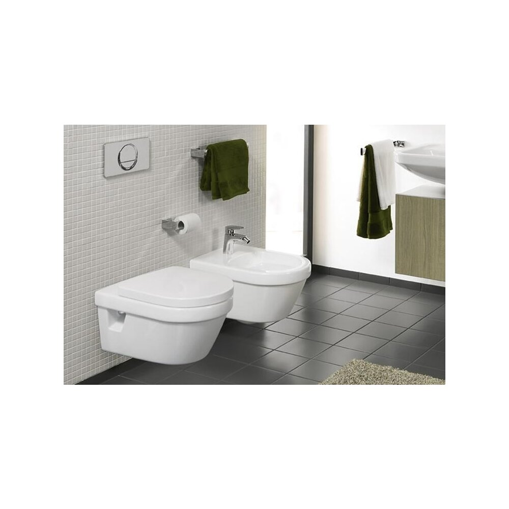 Set vas wc suspendat Villeroy&Boch Omnia Architectura DirectFlush cu bideu suspendat si capac soft close imagine neakaisa.ro