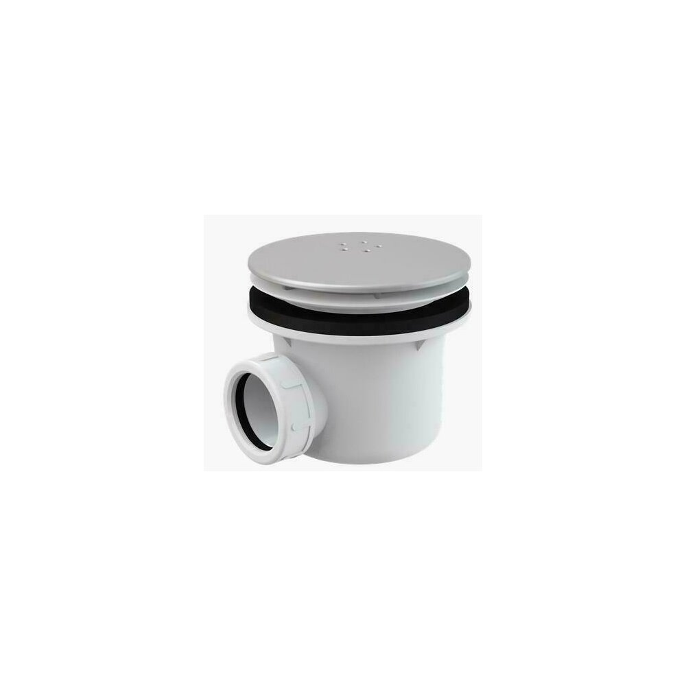 Sifon cadita metalic cromat LUX A49K mat Alcaplast poza