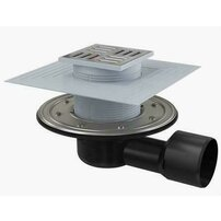 Sifon pardoseala 105 x 105/50/75 cu inaltator, iesire laterala, sistem de retinere a mirosurilor APV3344 Alcaplast