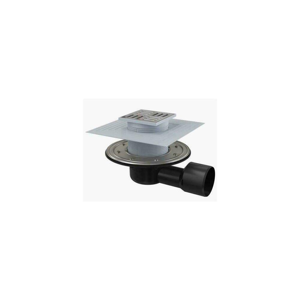 Sifon pardoseala 105 x 105/50/75 cu inaltator, iesire laterala, sistem de retinere a mirosurilor APV3344 Alcaplast poza