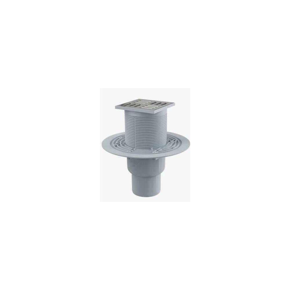 Sifon pardoseala 105 x 105/50/75 inaltator iesire verticala sistem de retinere a mirosurilor APV2311 Alcaplast poza