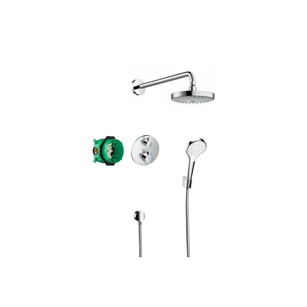 Sistem de dus cu termostat Hansgrohe Design Croma Select S Ecostat S incastrat imagine