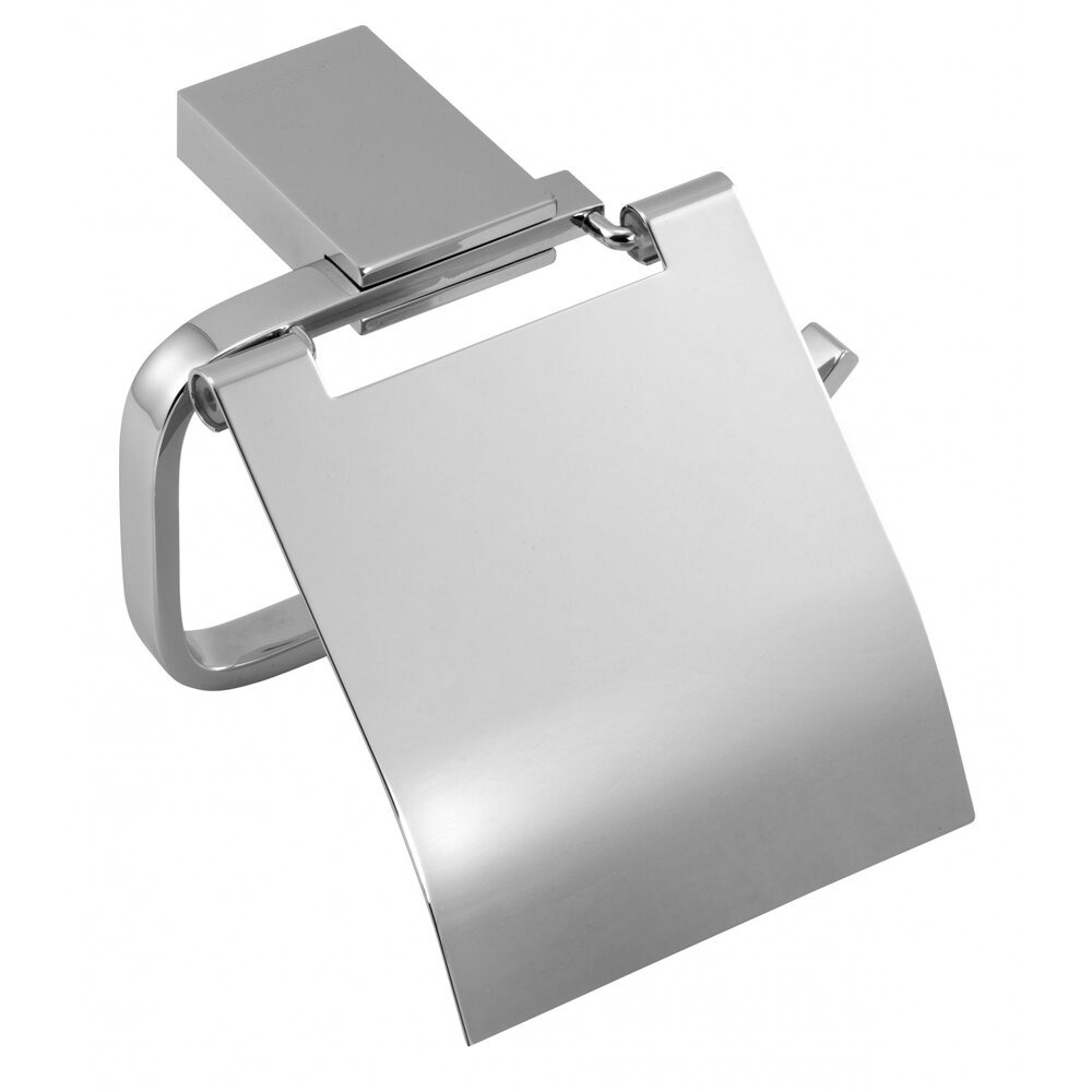 Suport hartie igienica cu protectie crom Ferro Metalia 9 poza