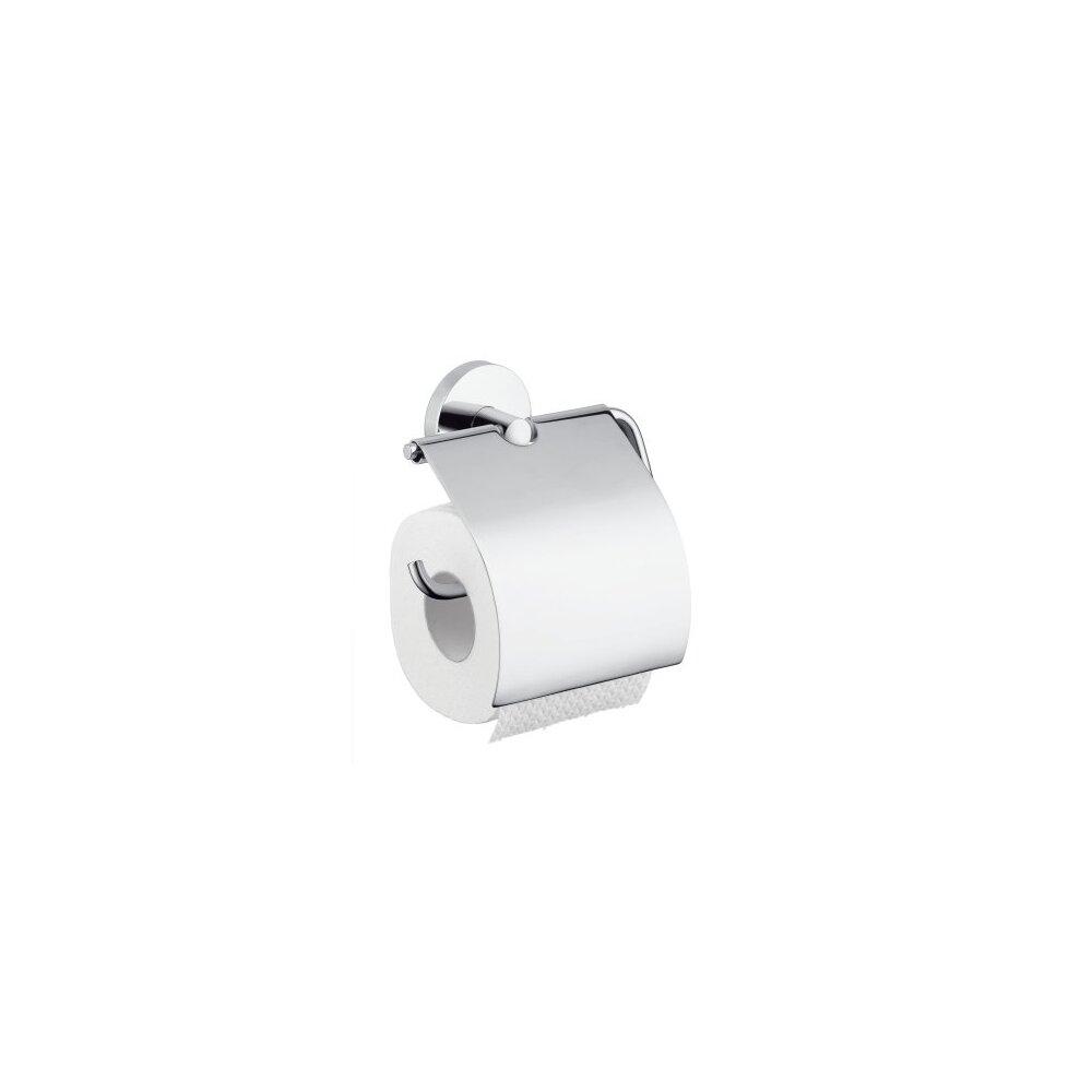 Suport hartie igienica cu aparatoare Hansgrohe Logis imagine neakaisa.ro