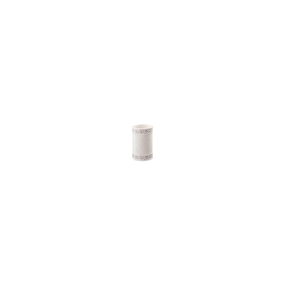 Suport periute de dinti cu pahar alb Bisk Castello imagine neakaisa.ro