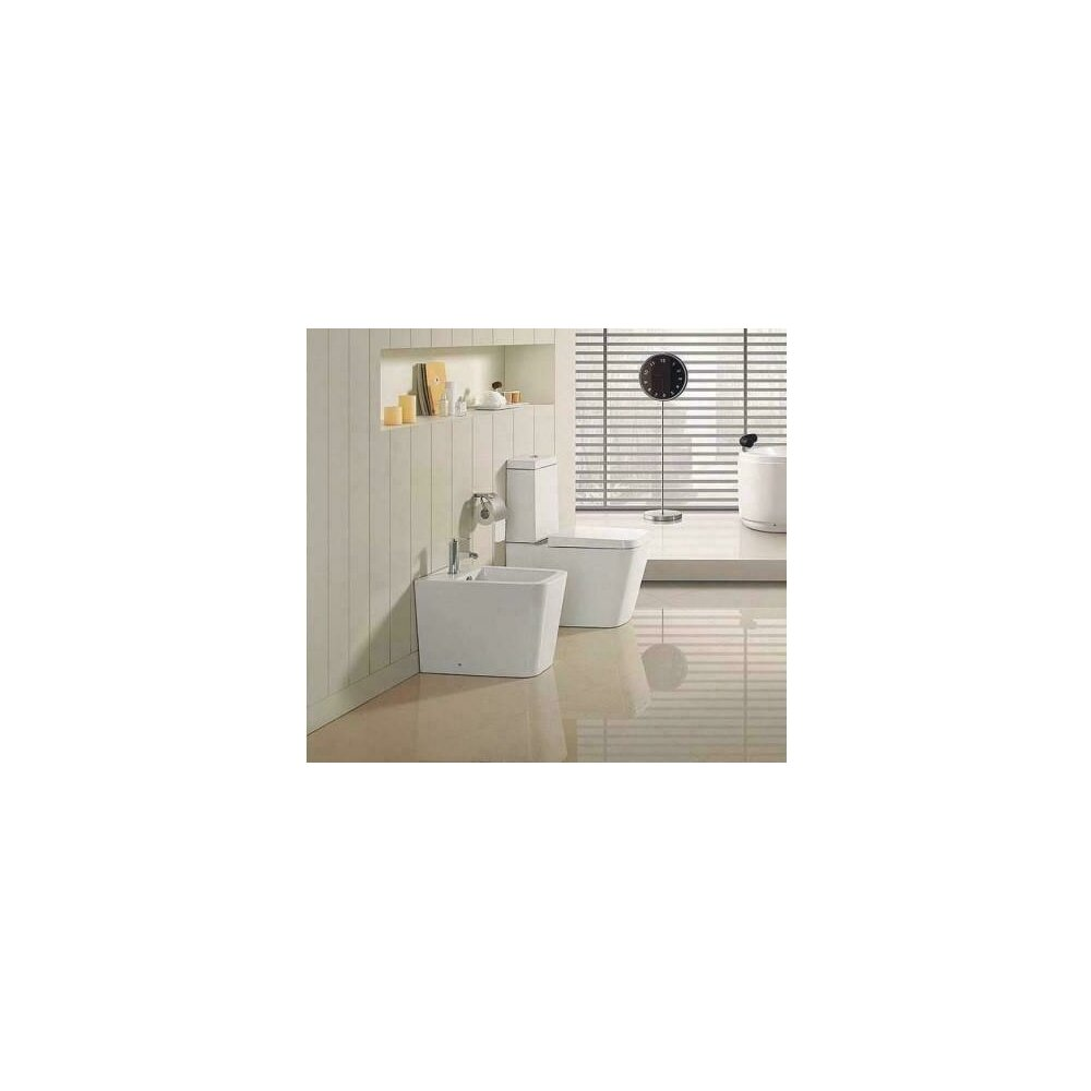 Vas de toaleta Dalet Square cu rezervor ceramic si capac soft close, Duobloc imagine