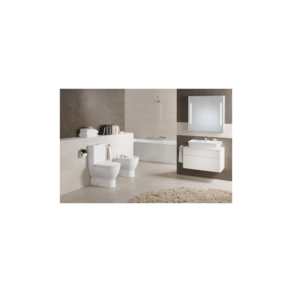 Vas wc pe pardoseala compact pentru rezervor asezat Gala Emma Rounded imagine