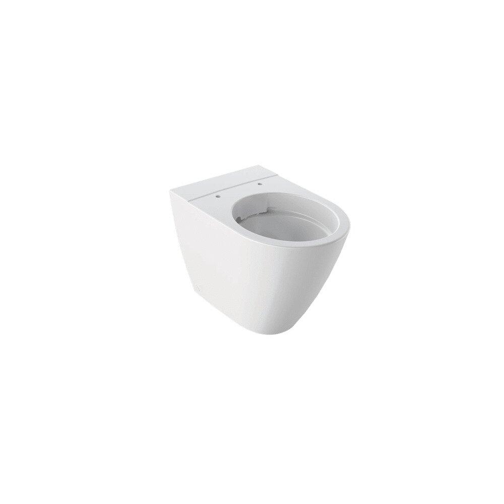 Vas wc pe pardoseala Geberit Icon Rimfree fara capac alb cu spalare verticala