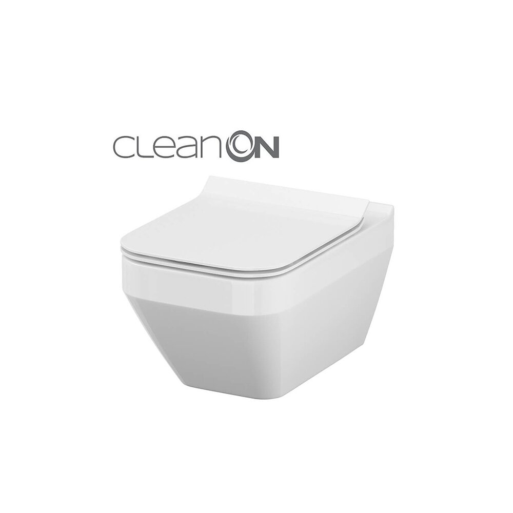 Vas wc suspendat Cersanit Crea Clean On dreptunghiular cu capac inchidere lenta poza
