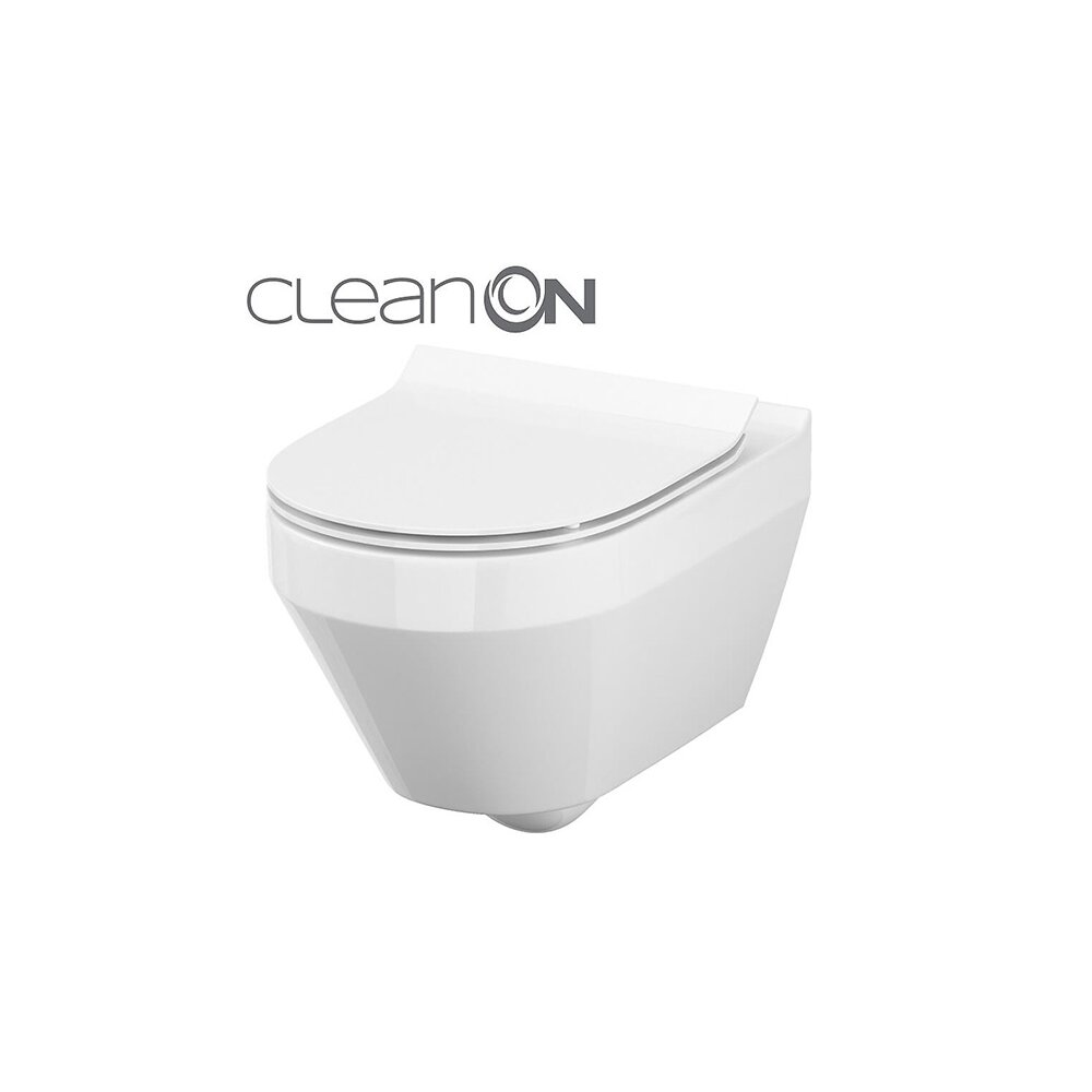 Vas wc suspendat Cersanit Crea Clean On rotund cu capac inchidere lenta neakaisa.ro
