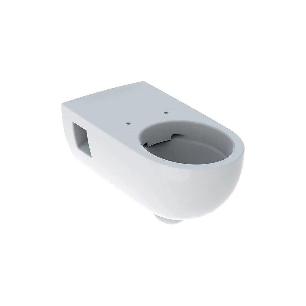 Vas wc suspendat Geberit Selnova Comfort Rimfree cu spalare verticala proiectie alungita fara capac alb imagine