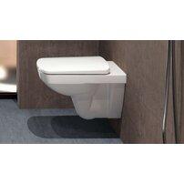Vas wc suspendat Geberit Selnova Rimfree fara capac alb cu spalare verticala