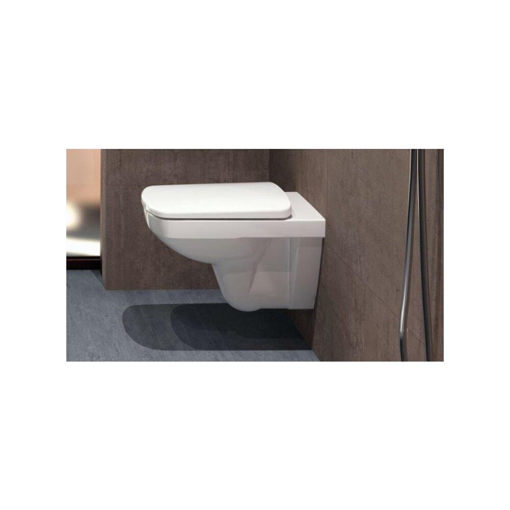 Vas wc suspendat Geberit Selnova Rimfree fara capac alb cu spalare verticala neakaisa.ro