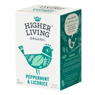Ceai menta si lemn dulce bio, 15 plicuri, Higher Living