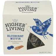 Ceai premium BLUEBERRY MUFFIN bio, 20 plicuri, Higher Living