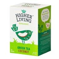 Ceai verde - COCOS - bio, 20 plicuri, Higher Living