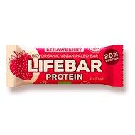 Lifebar baton proteic cu capsuni raw bio 47g