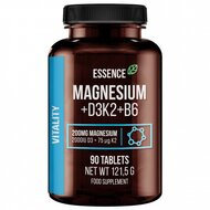 Magneziu + Vitamina D3, K2 si B6, 90 tablete, Essence