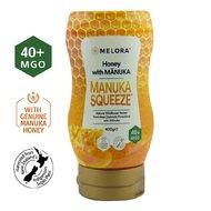 Miere tartinabila din flora salbatica a Noii Zeelande cu miere de Manuka MGO +40 MELORA, 400 g, naturala