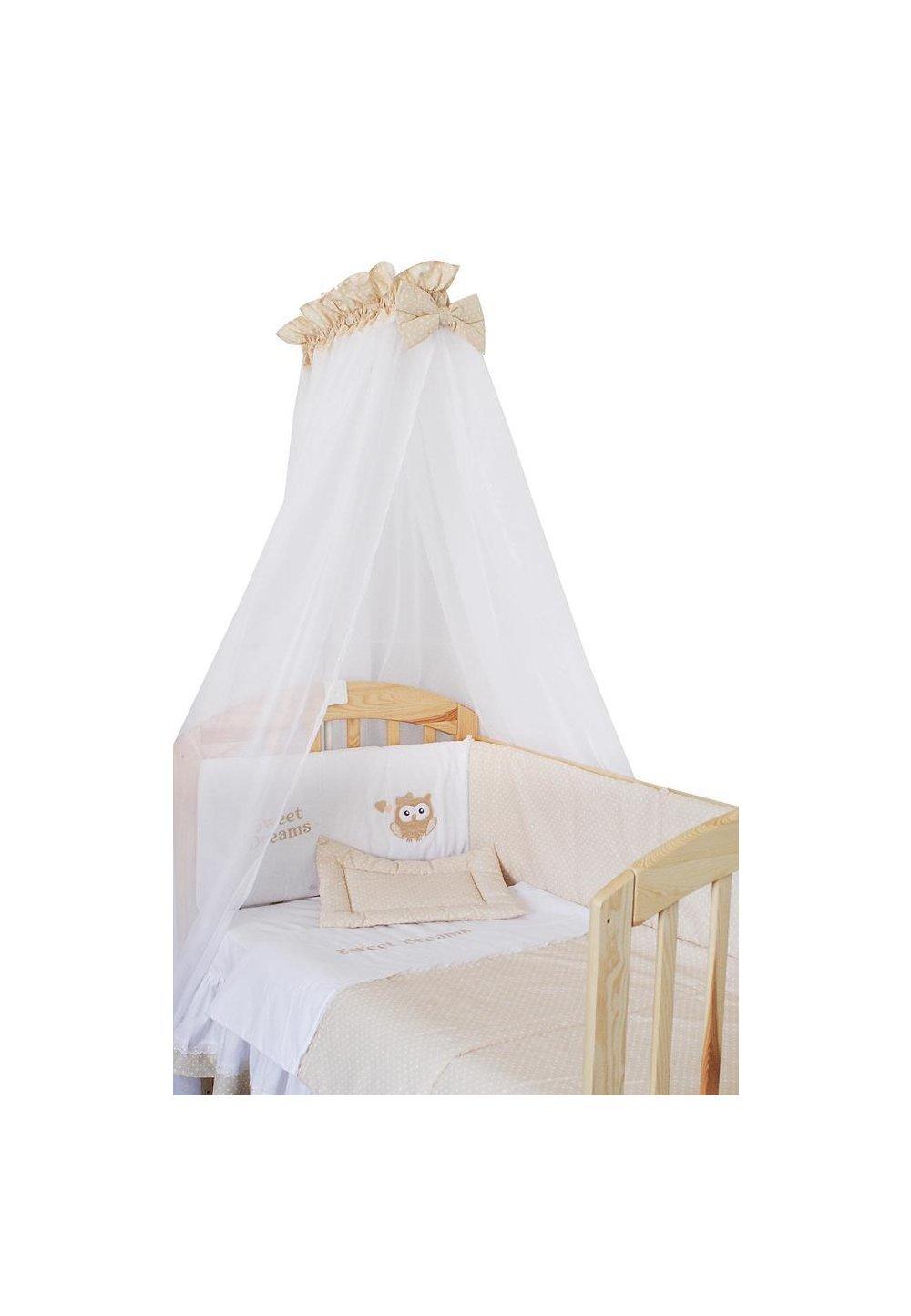 Baldachin patut, alb cu crem, 300 x 160 cm imagine